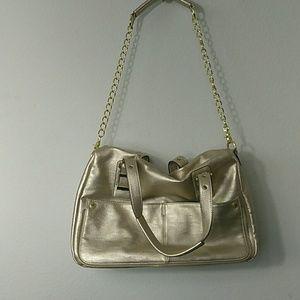 Steve madden gold metallic purse
